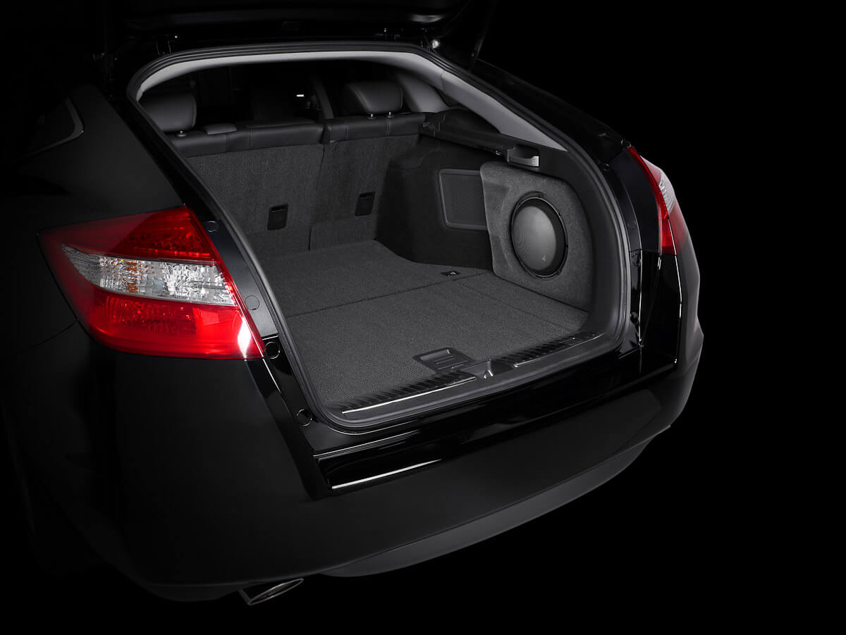 Honda accord crosstour subwoofer stealthbox from driven audio
