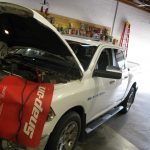 Battery Tender and Fender Protection are used to keep the vehicles battery charged during the installation.