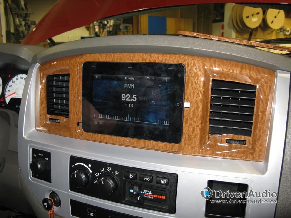 dodge ram ipad waterjet install certified autosound security