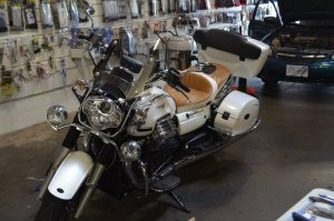 Abbotsford Client's Moto Guzzi Audio and GPS Upgrade