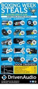 Boxing Day 2016 Car Audio Sale Abbotsford
